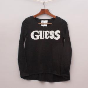 Guess Black Long Sleeve Top