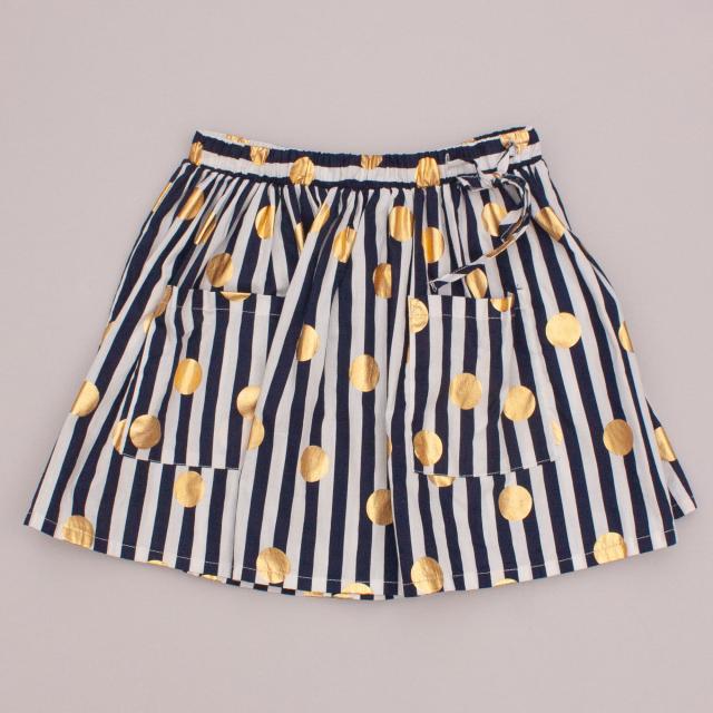 H&M Woven Leaf Skirt