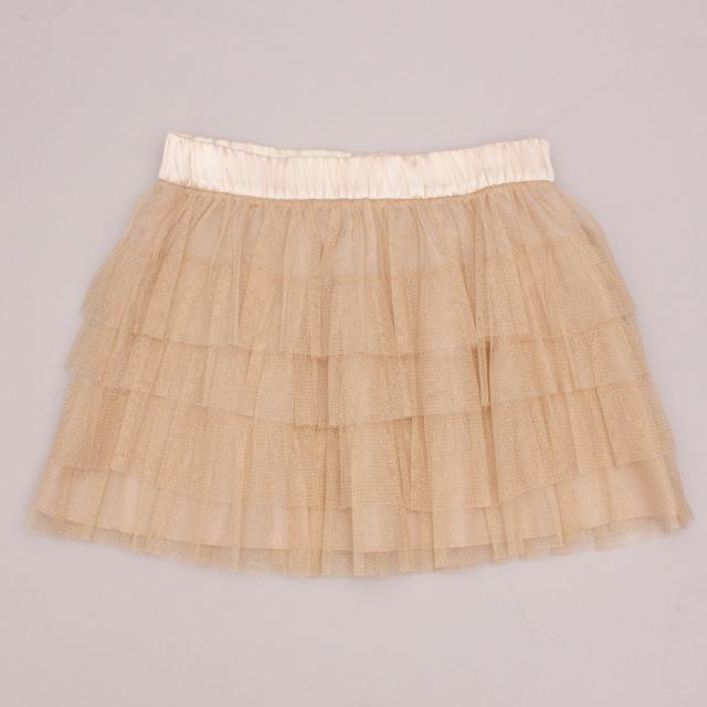 Forever 21 Gold Tulle Skirt