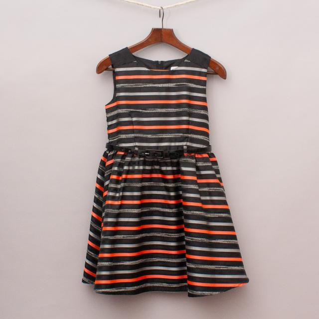Origami Striped Dress