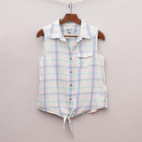 Mantaray Plaid Sleeveless Shirt