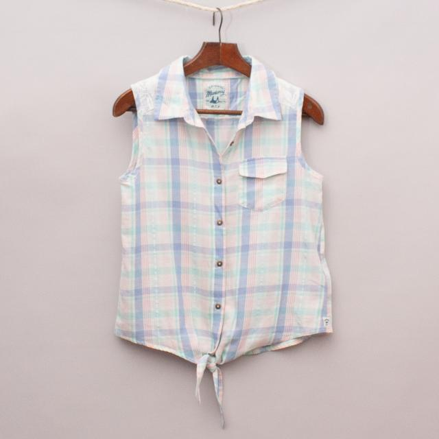 Mantaray Plaid Sleeveless Shirt