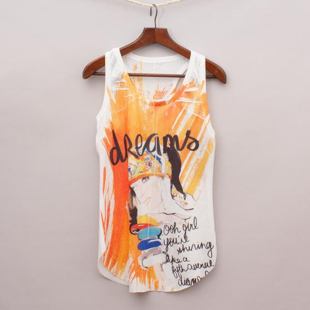 "Dreamland Printed Singlet Top ""Brand New"""