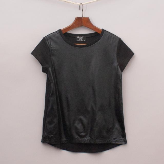 Wayne Jnr Faux Leather T-Shirt
