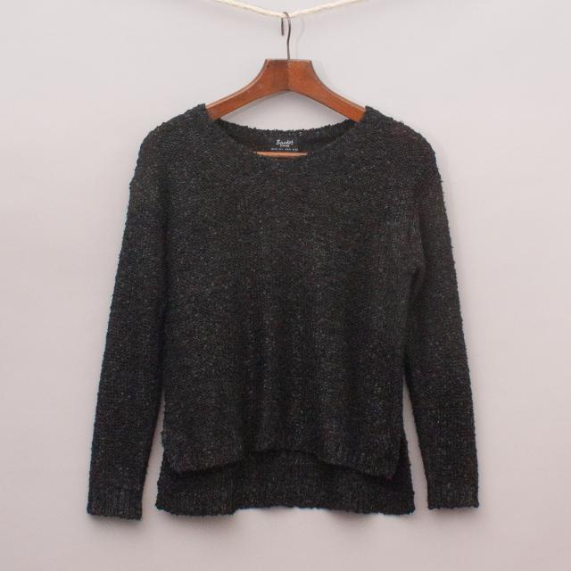 Bardot Metallic Flecked Jumper