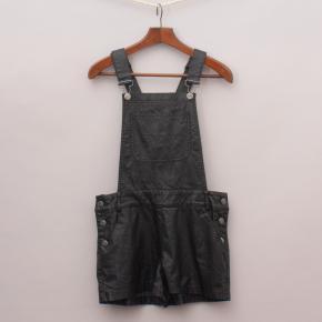 Gumboots Faux Leather Playsuit