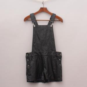 Gumboots Faux Leather Playsuit