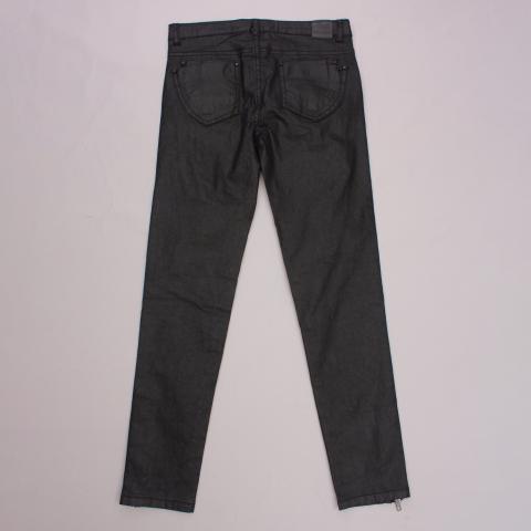 Gumboots Wet-Look Jeans
