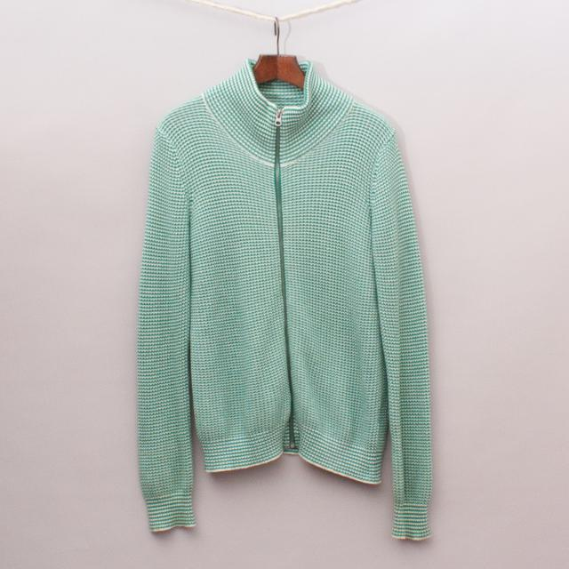 Seed Green Woven Jumper