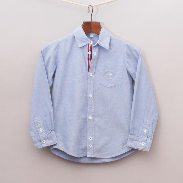 Jacadi Blue Long Sleeve Shirt