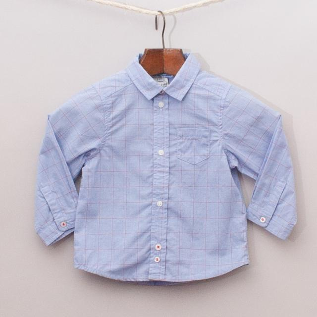 "Jacadi Check Shirt ""Brand New"""