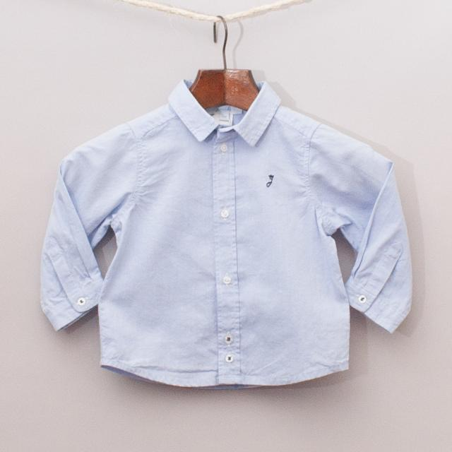 "Jacadi Blue Shirt ""Brand New"""