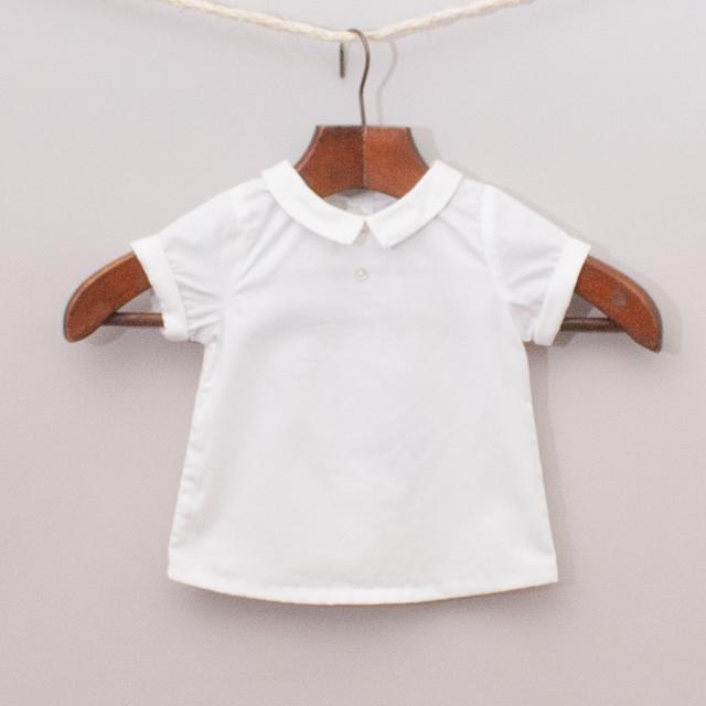 "Jacadi White Collared Shirt ""Brand New"""