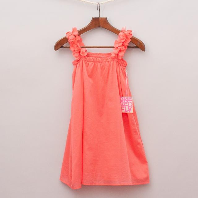 "One Red Fly Watermelon Dress ""Brand New"""