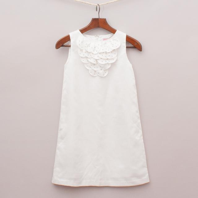 "One Red Fly White Detailed Dress ""Brand New"""