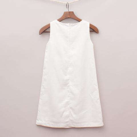 """One Red Fly White Detailed Dress """"Brand New"""""""