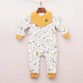 Soda Milk House Romper with Matching Bib