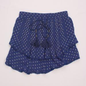 TryB Blue & Metallic Skirt