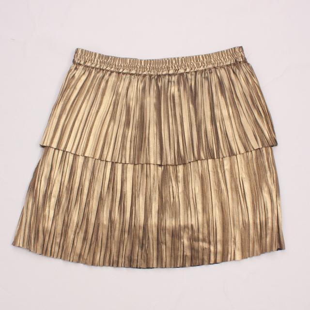 Witchery Metallic Gold Skirt