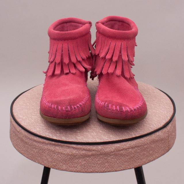 Minne Tonka Leather Fringe Booties - AU 8