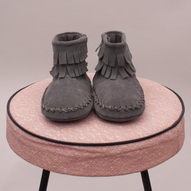"Seed Fringe Booties - 12-18Mths ""Brand New"""