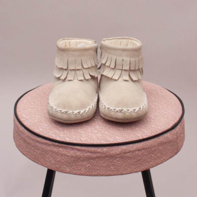 Seed Fringe Booties - 12-18Mths