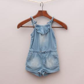 "Zara Denim Romper ""Brand New"""