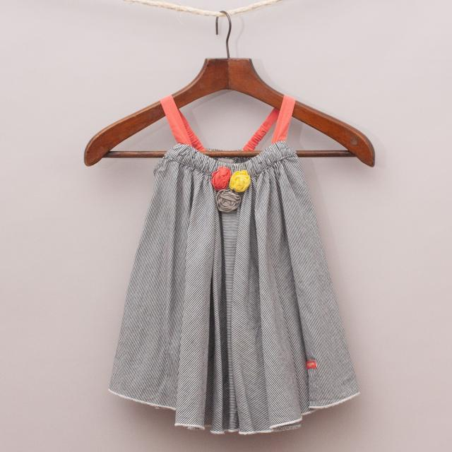 Marie Claire Striped Swing Dress