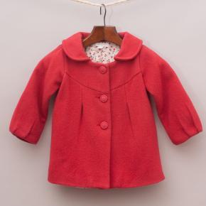 Purebaby Red Pea Coat