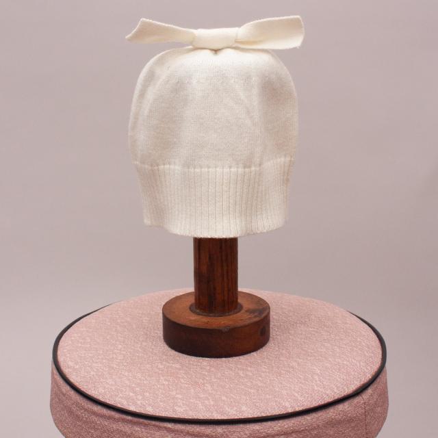 Purebaby Cream Beanie - 0-6Mths