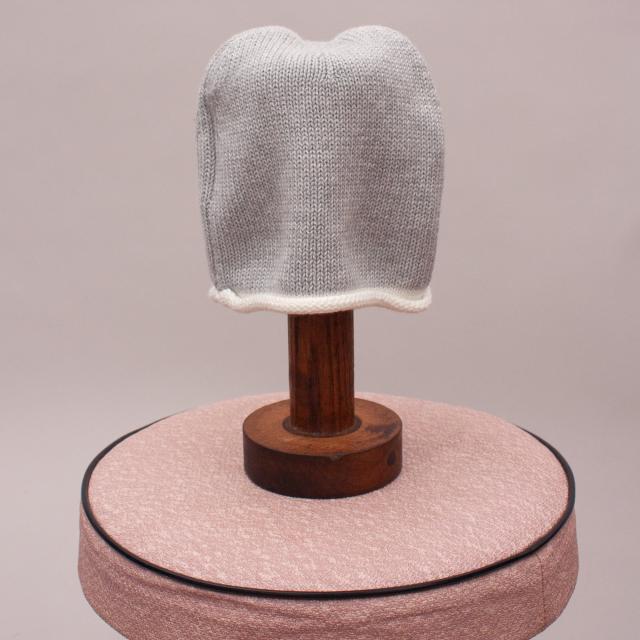 Bebe Grey Knit Beanie - XXS
