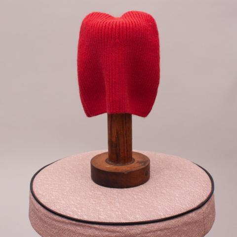 Bebe Red Knit Beanie - XXS