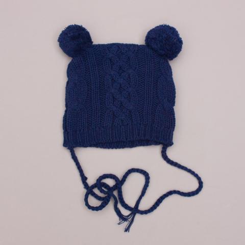 Oobi Navy Knit Beanie  - 0-1Yrs