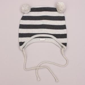 Egg Baby Striped Beanie - 12-18Mths
