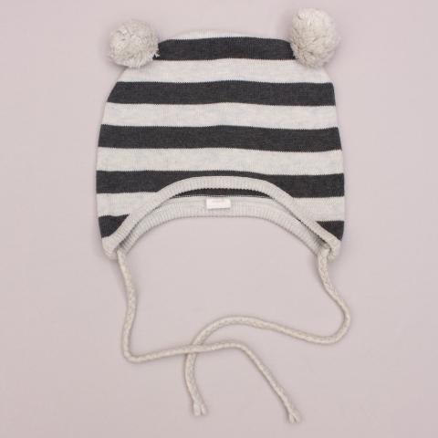 Egg Baby Striped Beanie - 12-18Mths