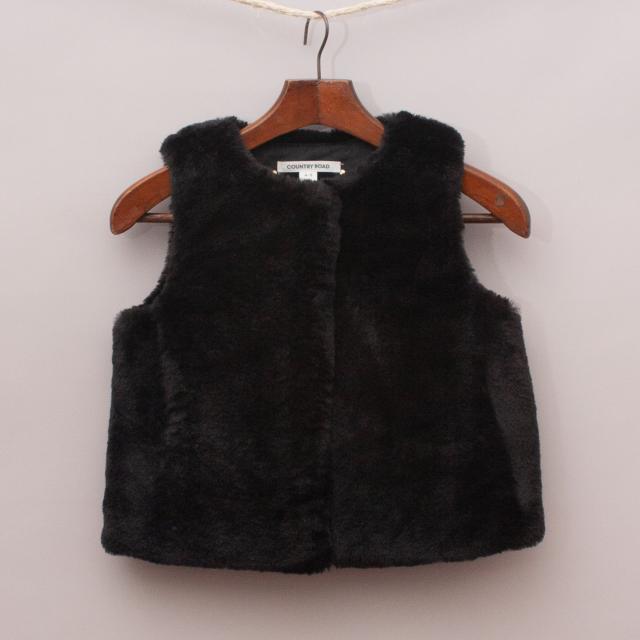 Country Road Faux Fur Vest