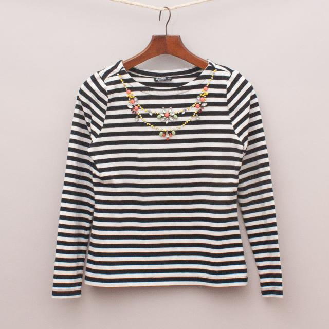 Bardot Striped Long Sleeve