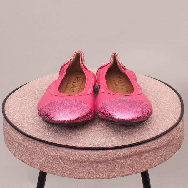 Walnut Pink Ballet Slippers - EU 25