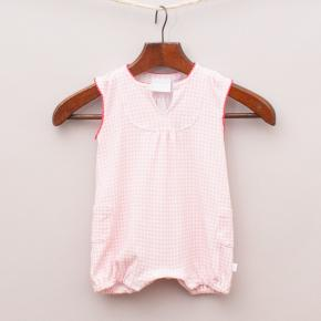 Marquise Check Romper