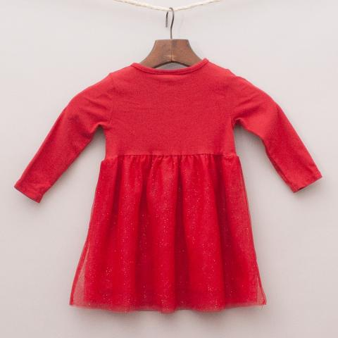 H&M Red Tulle Dress