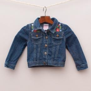 Nannette Embroidered Denim Jacket