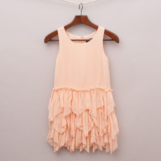 Bardot Ruffled Dress