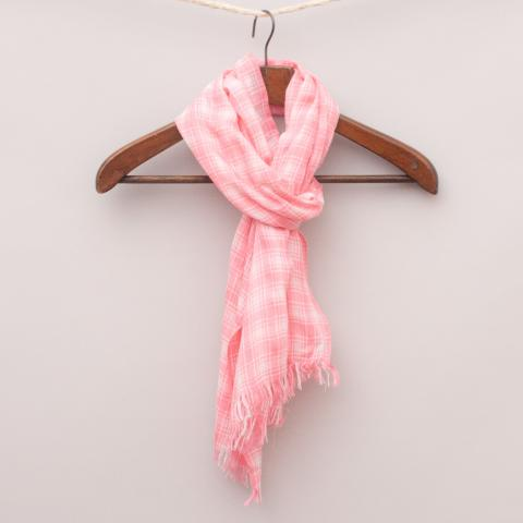 Seed Pink Check Scarf - OS