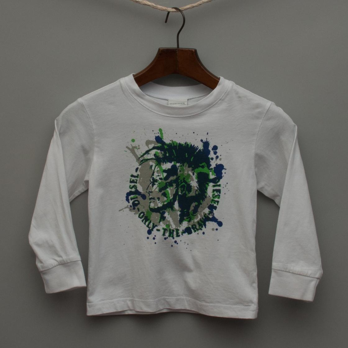 White Printed Long Sleeve Top