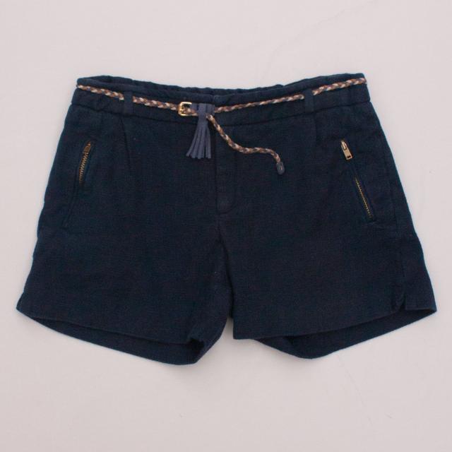 Zara Navy Blue Shorts