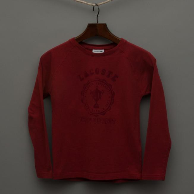 Dark Red Long Sleeve Top