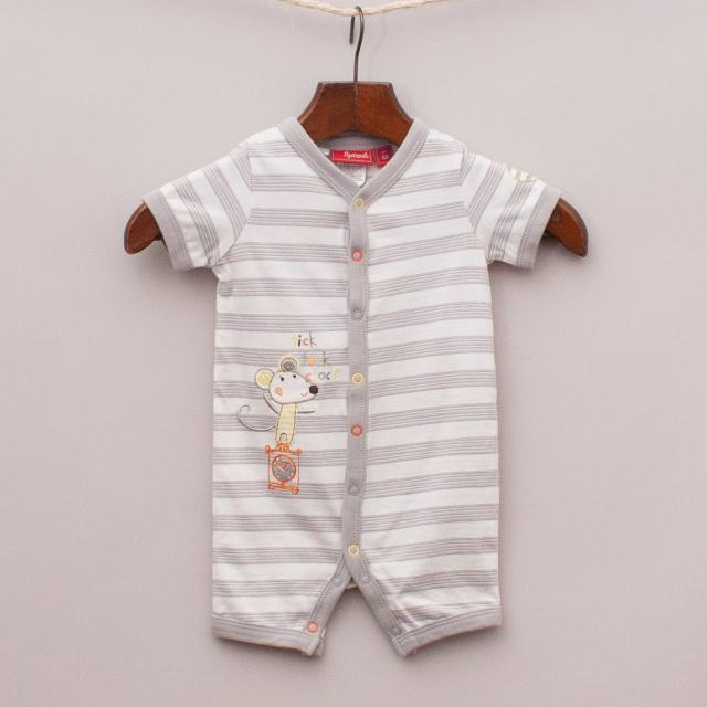 "Sprout Striped Romper ""Brand New"""