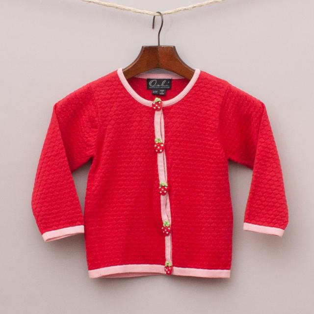"Oobi Red & Pink Cardigan ""Brand New"""
