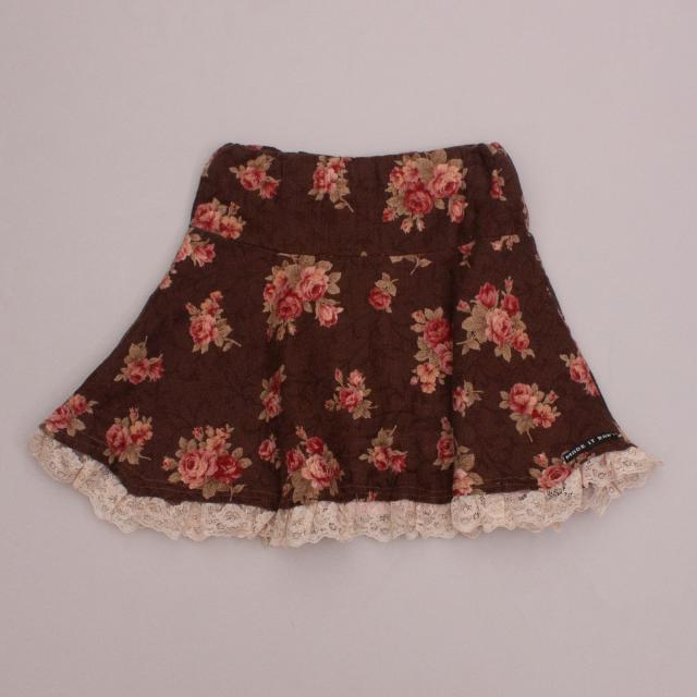 Made It Baby Floral & Lace Skirt