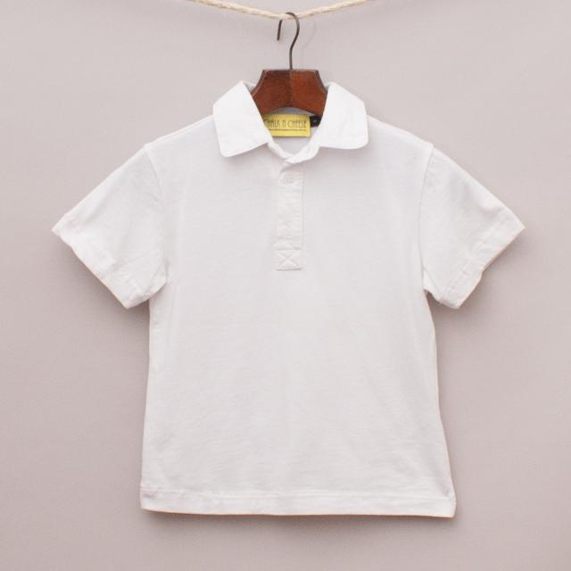 Chalk N Cheese White Polo Shirt